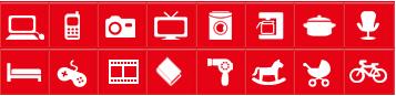 Menu Iconografico de Loja de Departamentos Online Ecommerce